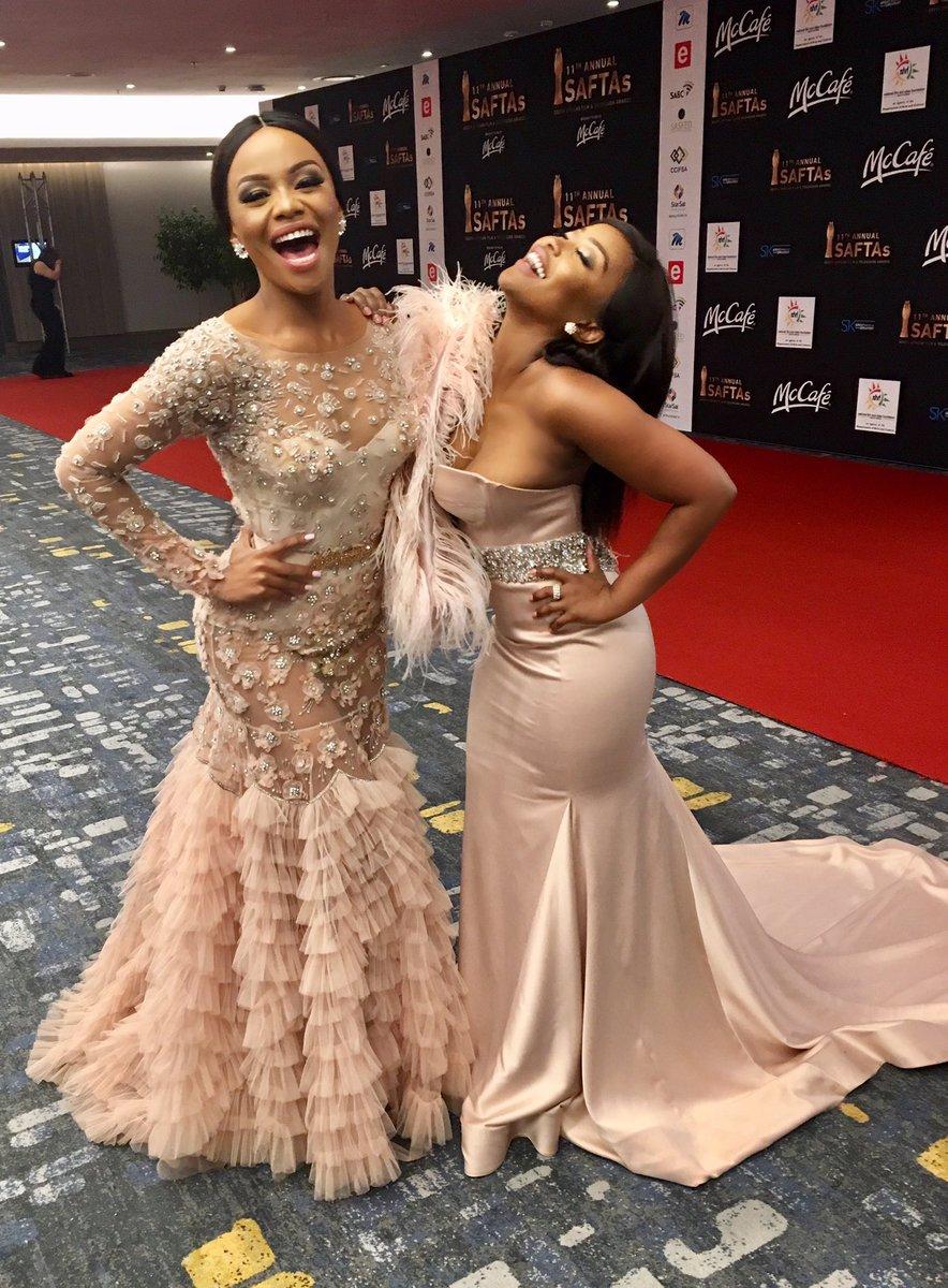 5 Mzansi Celebs Wore Dress Most Revealing Skin At The 2017 Saftas 11 -6359
