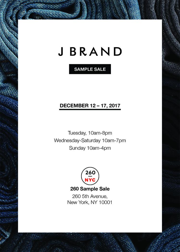 fashionably petite j brand sample sale 12 12 12 17. Black Bedroom Furniture Sets. Home Design Ideas