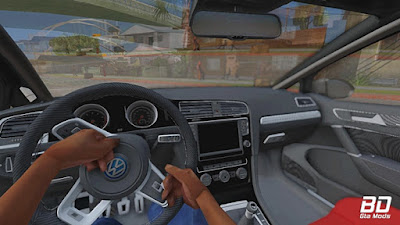 VW Golf R Pandem Rocket Bunny para GTA San Andreas - Interior