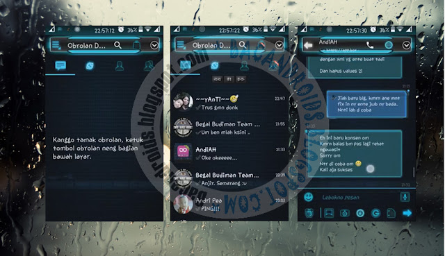 download BBM2 Mod DroidChat Tema Evolution Blue Versi 2.13.1.13 Apk(Clone)
