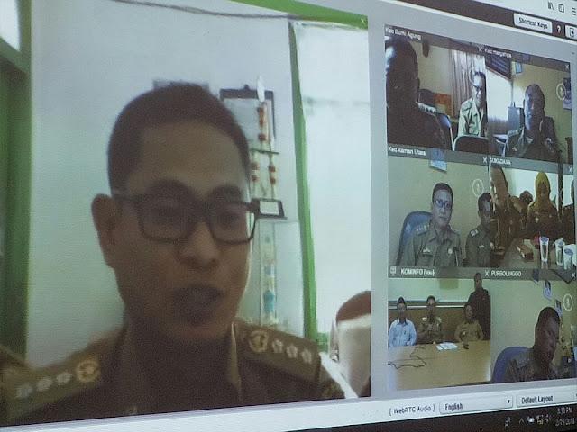 Kabupaten Lamtim Launching Video Conference Di 6 Kecamatan