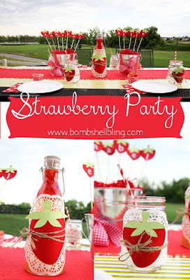 Strawberry Themed Party by Bombshell Bling