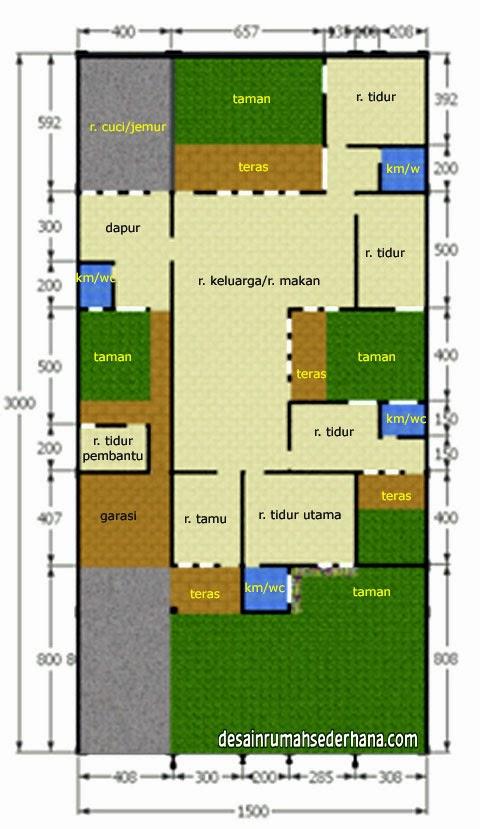 Desain Rumah Sederhana Luas Bangunan 250 M2, Tanah 450 M2