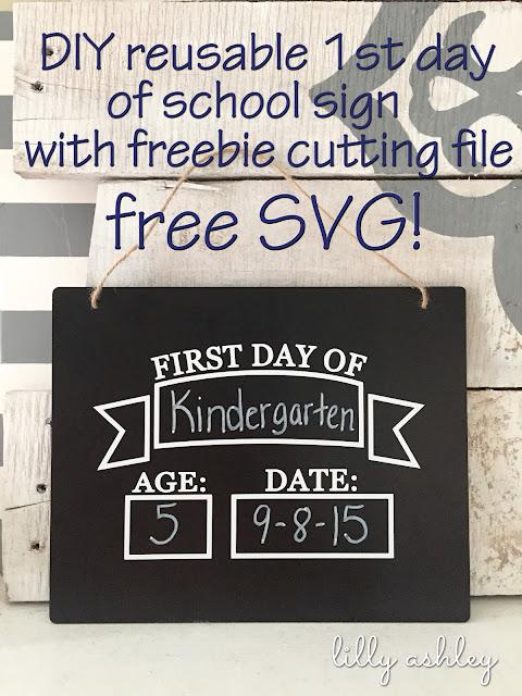 banner school cut file freebie chalkboard
