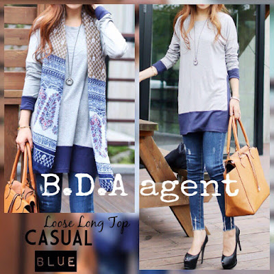 Agent Loose Casual Long Top, agent Loose Casual Long Top murah, dropship Loose Casual Long Top, blouse  dewasa, blouse murah,  blouse murah, borong blouse dewasa, blouse raya murah, dress raya 2015,
