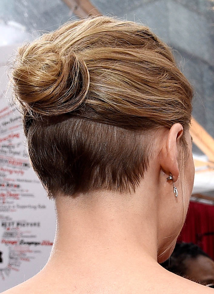 Lady Nape Rosamund Pike Shaved Nape Undercut Hairstyle