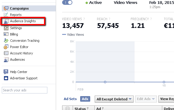 Audience insights not working in Facebook Ads Manager? | Food for bots