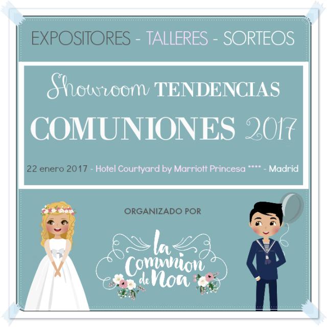 showroom tendencias en comuniones 2017 organizado por La Comunion de Noa
