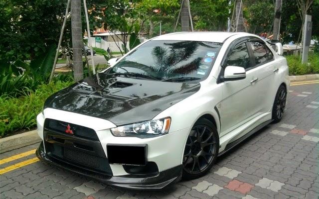 Modifikasi Mobil Mitsubishi Lancer sport