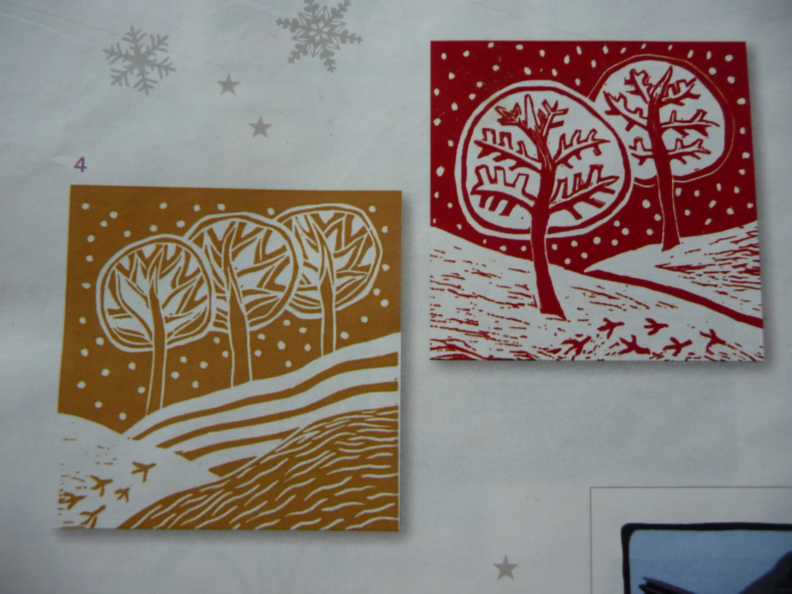 Inky Fingers Christmas Cards