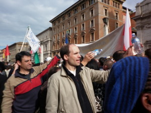 Rodolphe Berthon, séminariste, à Rome pour la béatification de Jean-Paul II