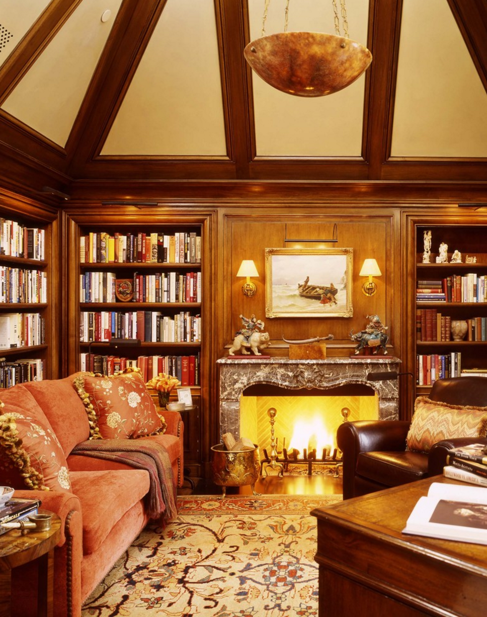 Wood Paneled Library: The Glam Pad