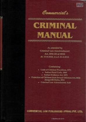 Online Book Store: Criminal Manual as amended by Criminal