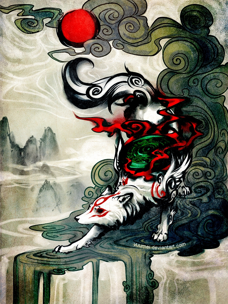09-Okami-Wenqing-Yan-yuumei-Soothing-Digital-Art-that-Explores-many-Subjects-www-designstack-co