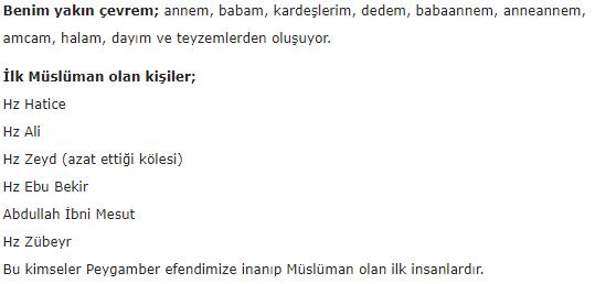 6. Sınıf Dörtel Yayınları Din Kültürü Ders Kitabı 56. Sayfa Cevapları