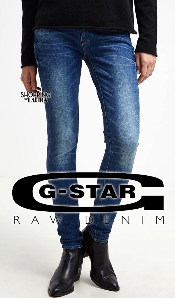 Jean femme slim bleu taille basse G-Star Raw