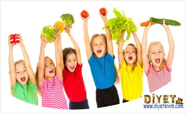 çocuklarda diyet ve beslenme