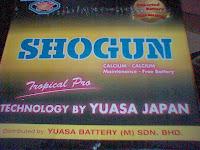 Bateri SHOGUN  Yuasa - Maintenance Free