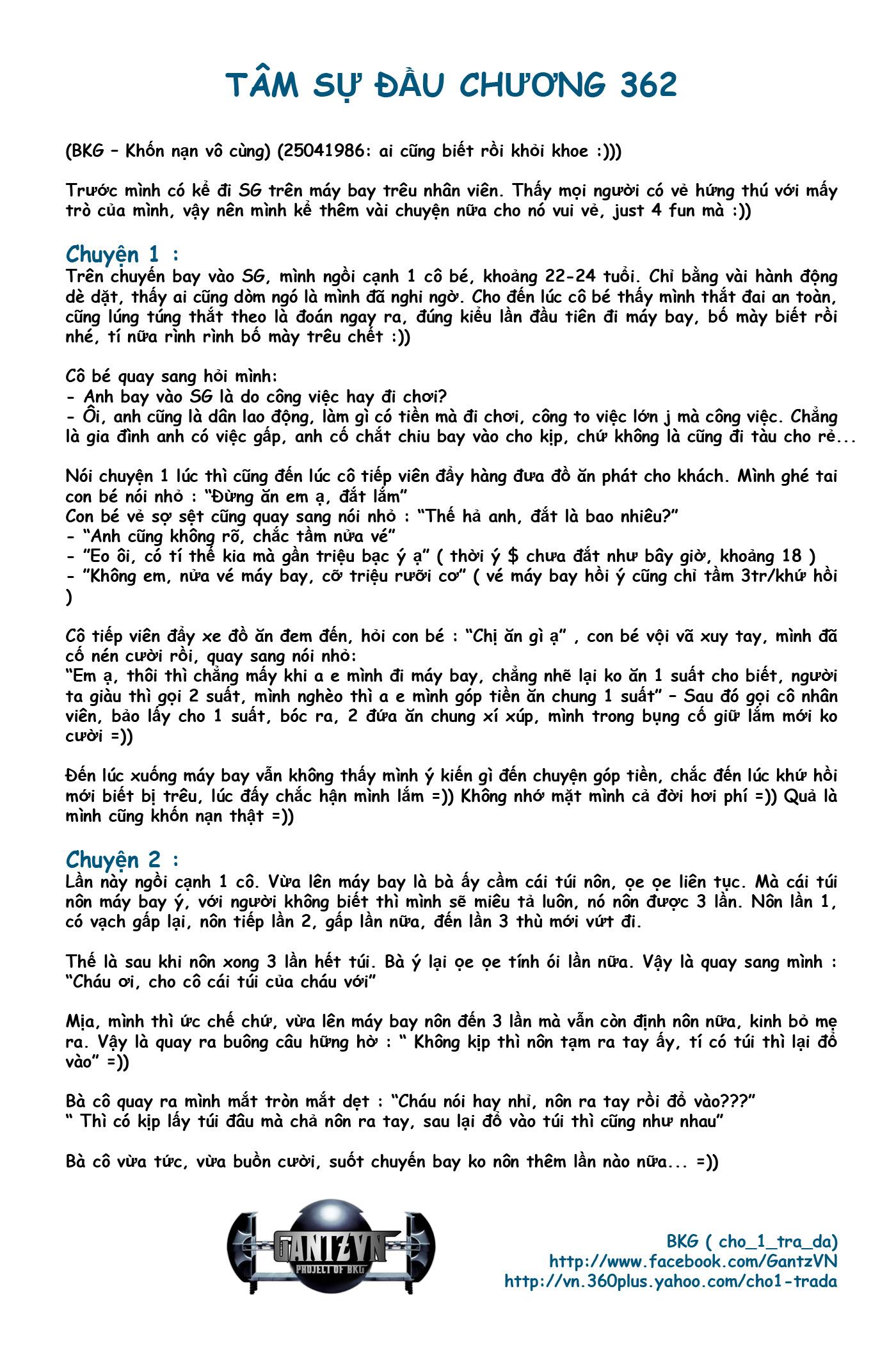 Gantz chap 362 trang 1