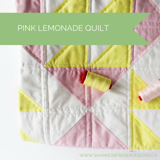 Pink Lemonade Quilt | WIP Wednesday | Shannon Fraser Designs | Modern Quilting | Baby Girl Quilt | Modern Baby Quilt