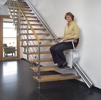 Krzesełko schodowe na torze prostym Otolift Parallel
