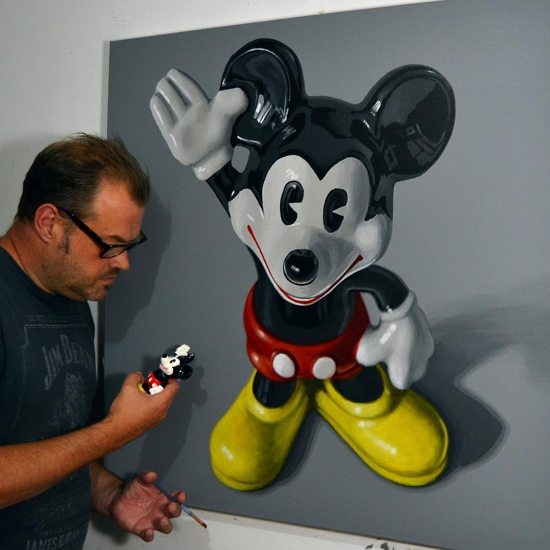 15-Vintage-Mickey-Peter-Slade-Hyper-Realistic-Paintings-Acrylic-on-Canvas-www-designstack-co