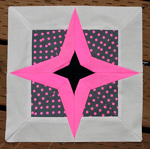 Neon Star Block Free Pattern