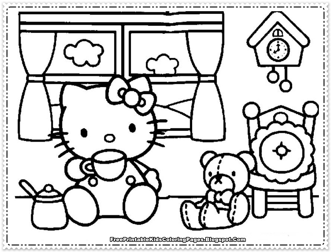 Hello Kitty Coloring Pages For