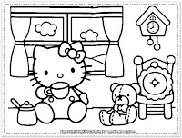 hello kitty colouring in pages for girls