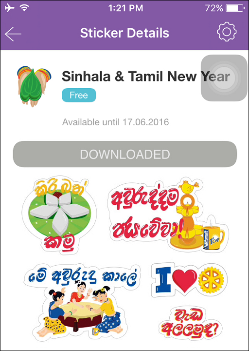 free stickers for viber iphone