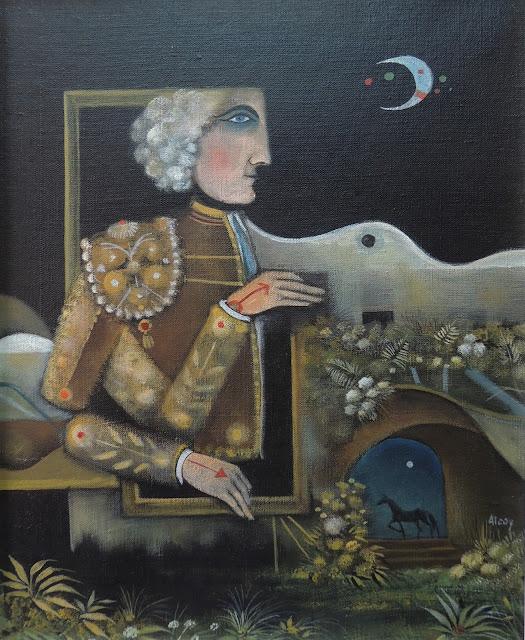 Eduard Alcoy obra arte acrílico lienzo retrato de torero