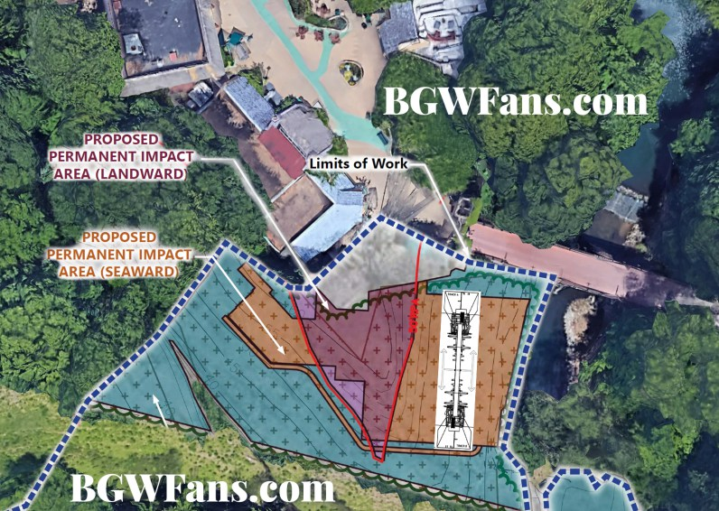 The Site Plan From BGWFans.com Showing The Proposed Location. The Ride  Should Be Swinging Over The River According To The Placement In This Image,  ...