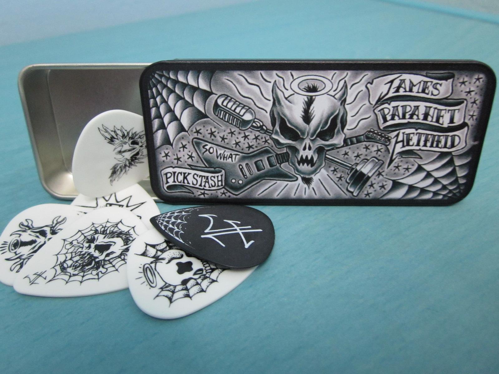 maximus guitars accessories james hetfield signature picks in tin. Black Bedroom Furniture Sets. Home Design Ideas