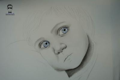 تعلم رسم طفل بالرصاص