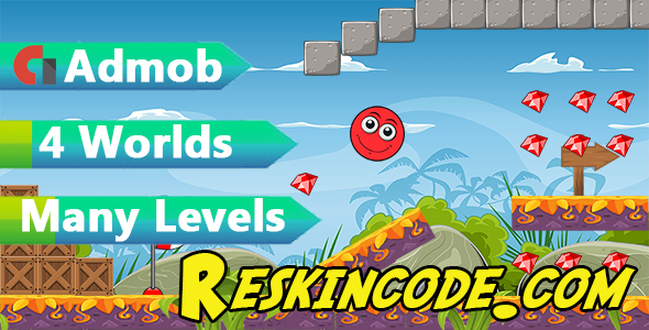 Super Red Ball World - Admob Codecanyon