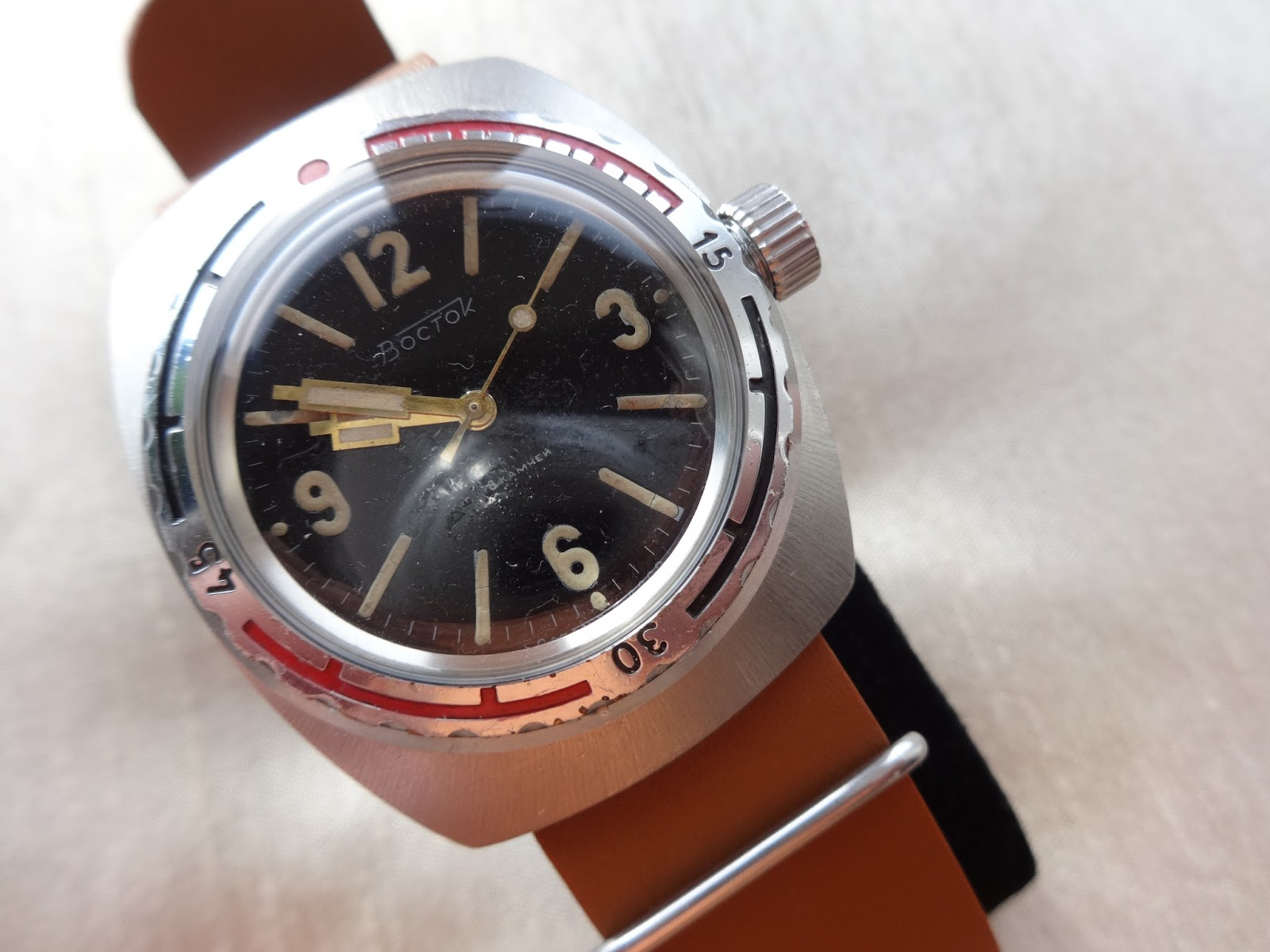 c3164740b95f Vostok 300m Amphibia  Rare . Just taken delivery of this watch