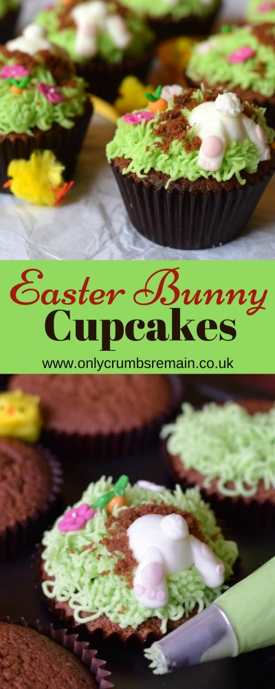 How to make Easter Bunny Butt Cupcakes