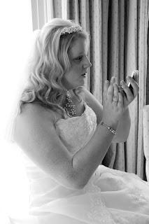 Soft blonde curled wedding hair