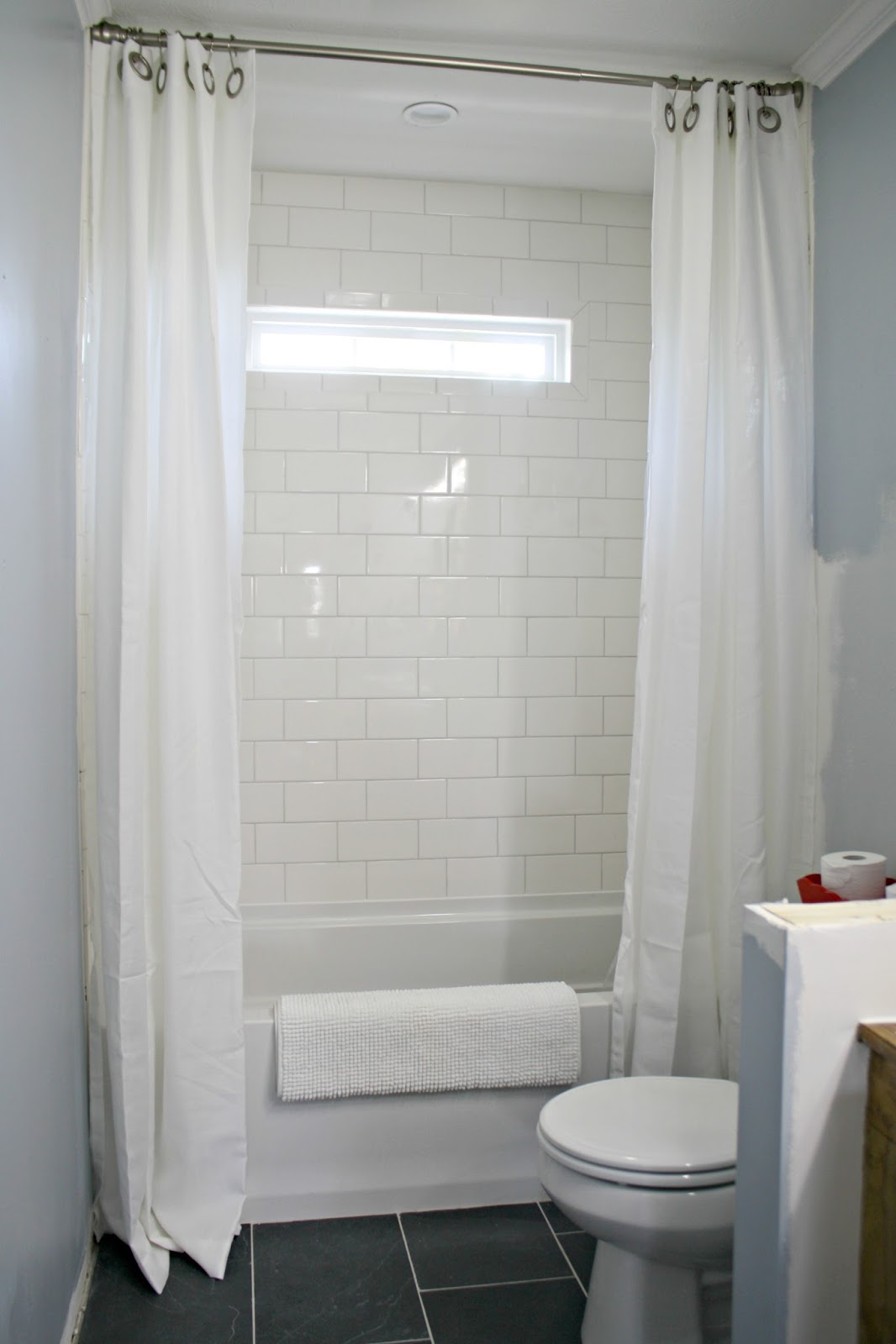 How To Use Drapes On Shower For Double Curtain Look