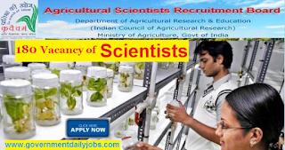 ASRB Recruitment 2017 Online Apply 180 Scientist Vacancies