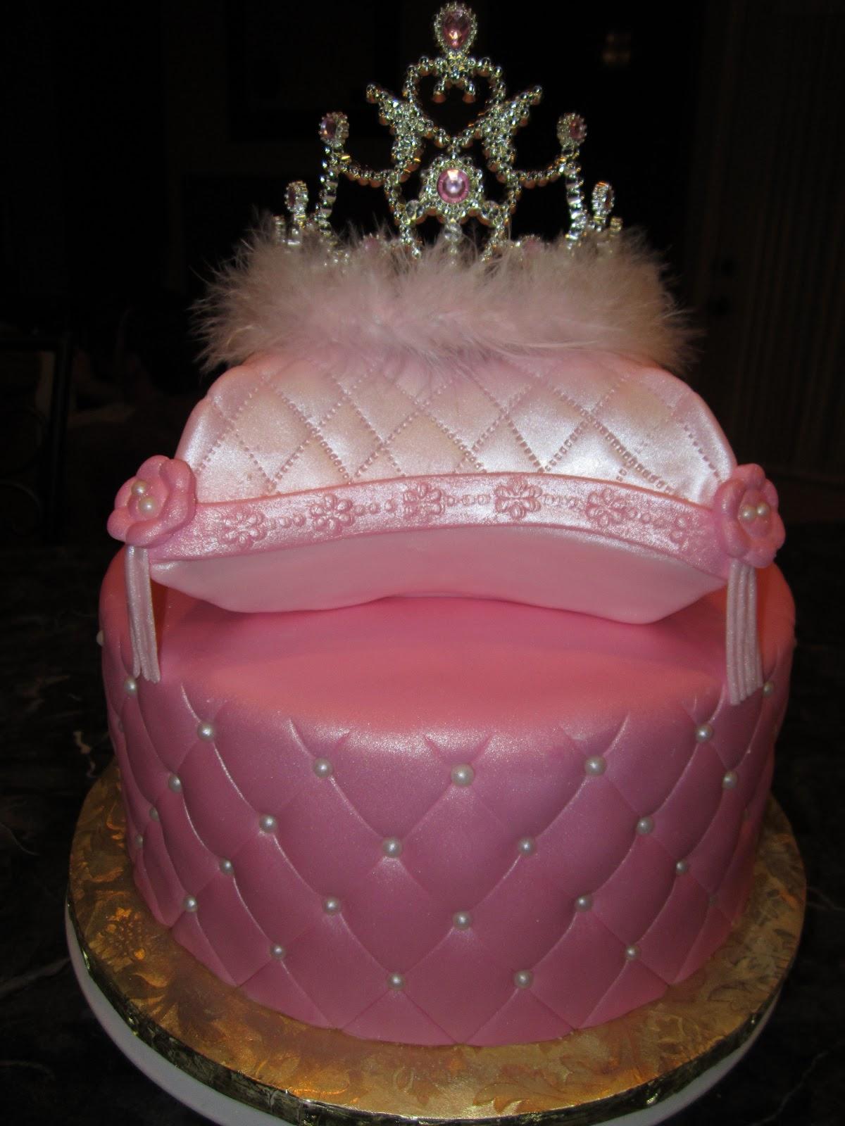 Mymonicakes Princess Pillow And Tiara Cake