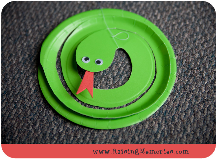 And ... & Paper Plate Snake Puppet Craft