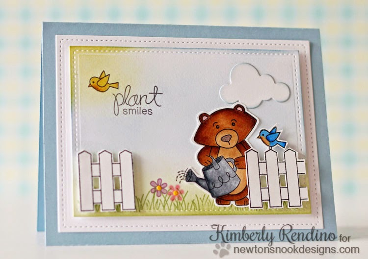 Garden whimsy card by Kimberly Rendino for Newton's Nook Designs | kimpletekreativity.com
