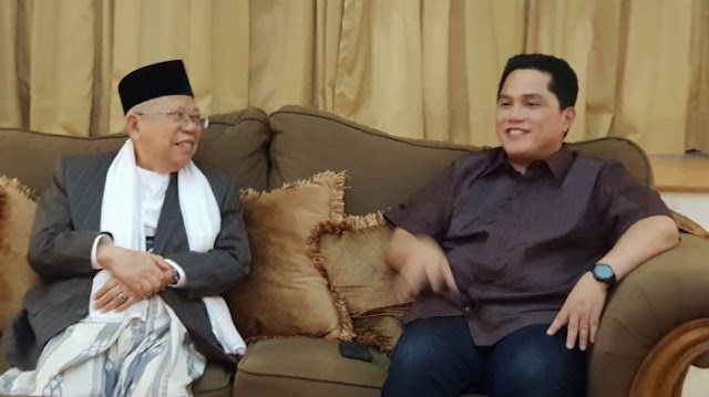 Pengamat: Erick Thohir Tidak Fair, Ma'ruf Bemper Jangan Dipaksa Jadi Mesin