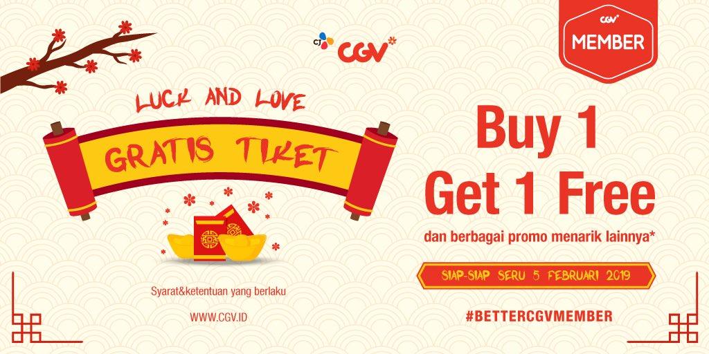 #CGV - #Promo CGV Member Luck & Love Buy 1 Ger 1 Free (05 Feb 2019)