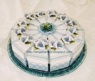 Caixa fatia bolo