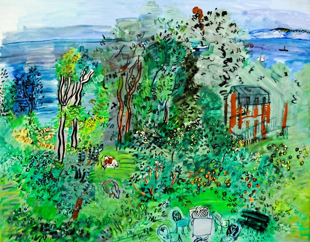 Raoul Dufy, Landscape, Villerville