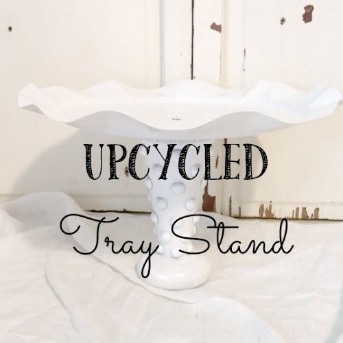 Upcycled Tray Stand - Thrift Shop Flip