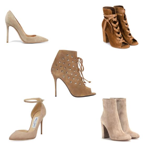 sapatos de suede