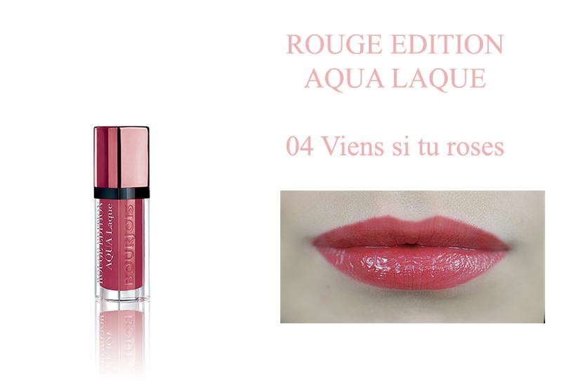 Bourjois Rouge Edition Aqua Laque  04 viens si tu roses